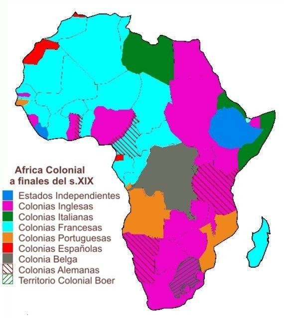 Mapa Colonial De Africa.Africa Colonial
